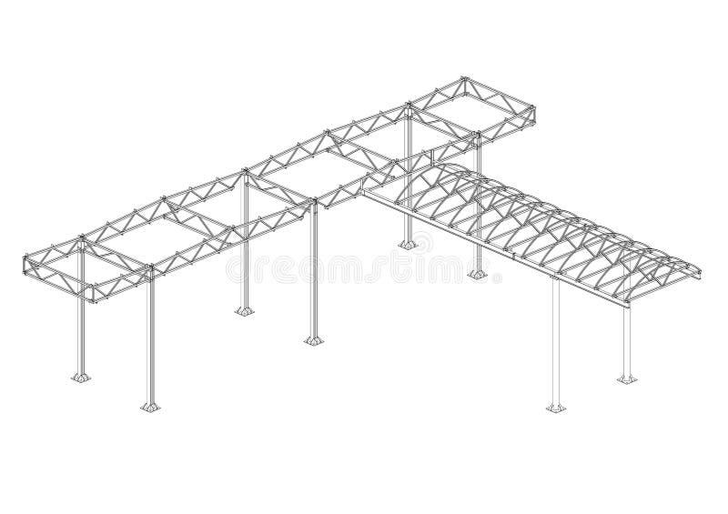 Luifel van staalstructuren royalty-vrije stock afbeelding
