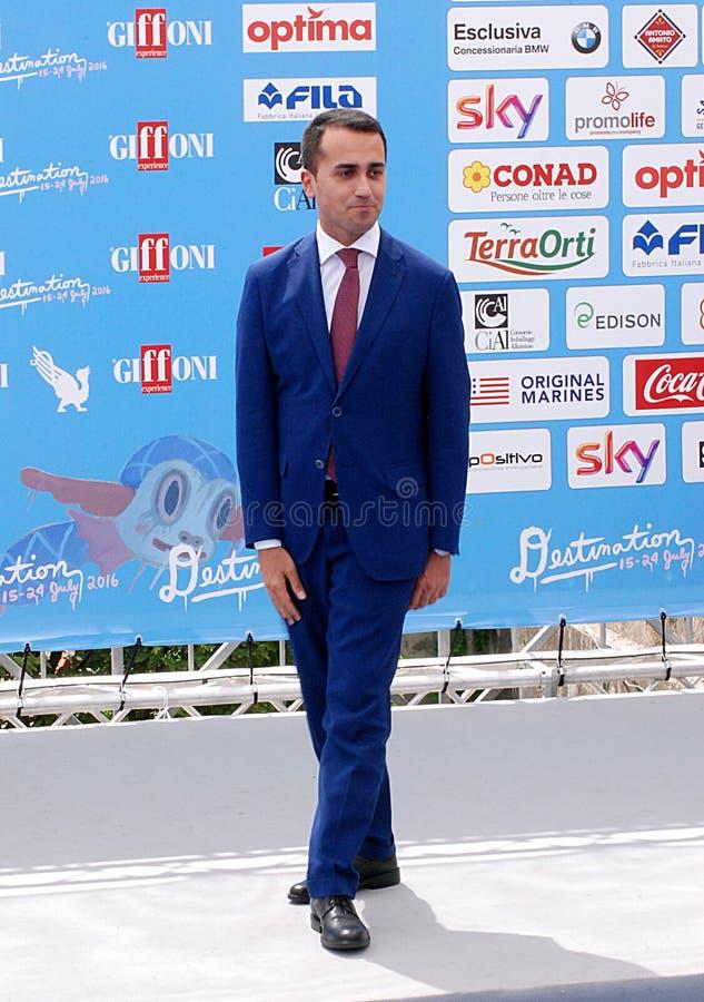 Luigi Di Maio al Giffoni Film Festival 2016 royaltyfri foto