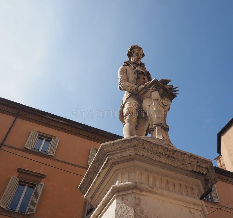 Luigi Galvani monument i bolognaen royaltyfria bilder