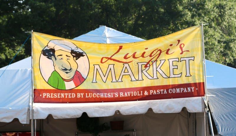 Luigi's Market Sign at The Memphis Italian Festival Sign stock image