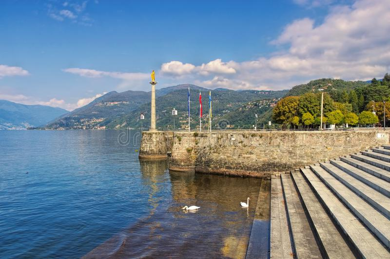 Luino on Lago Maggiore. In northern Italy royalty free stock image