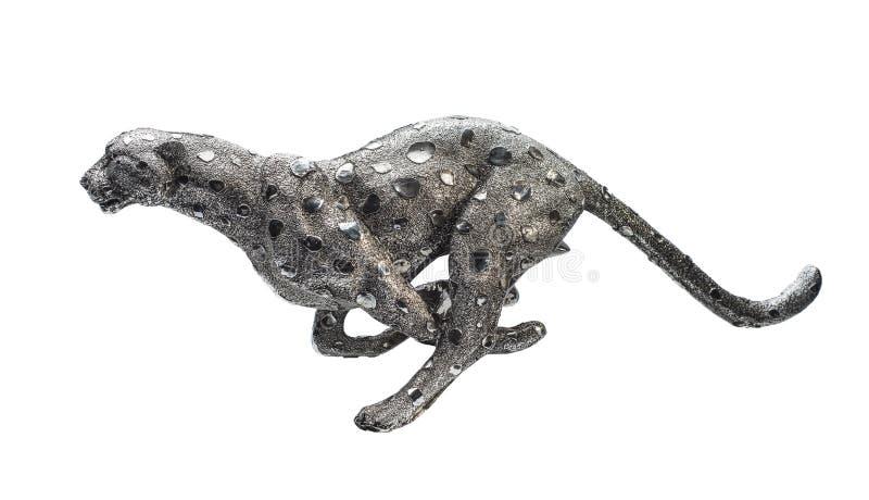 Luipaard in motie royalty-vrije stock afbeelding