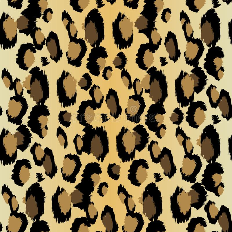 Luipaardpatroon Naadloze vectordruk Realistische dierlijke textuur Zwarte en gele vlekken op een beige achtergrond Het abstracte  vector illustratie