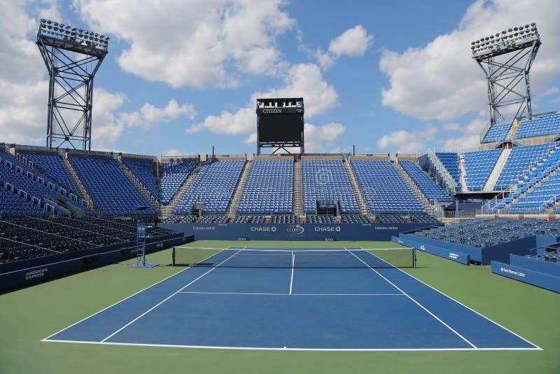 Luis Armstrong Stadium en Billie Jean King National Tennis Center durante el US Open 2014 foto de archivo libre de regalías