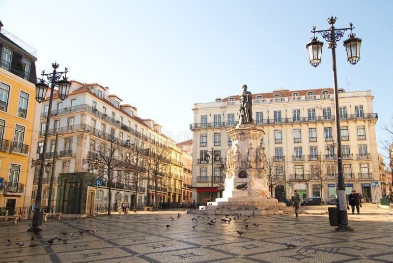 Luis de Camoes Square fotos de archivo