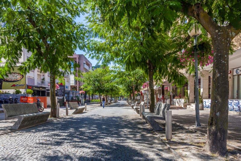 Luis De Camoes Ulica w Vila Nova De famalicão fotografia stock