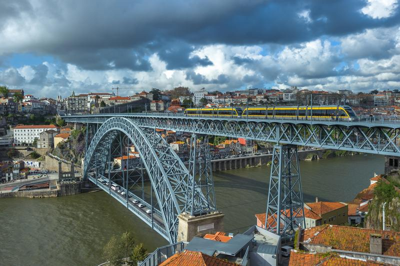 Luis I Bridge in Porto, Portugal royalty free stock photography