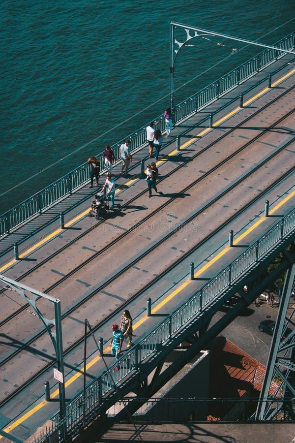 Luis que eu construo uma ponte sobre em Porto, Portugal fotos de stock