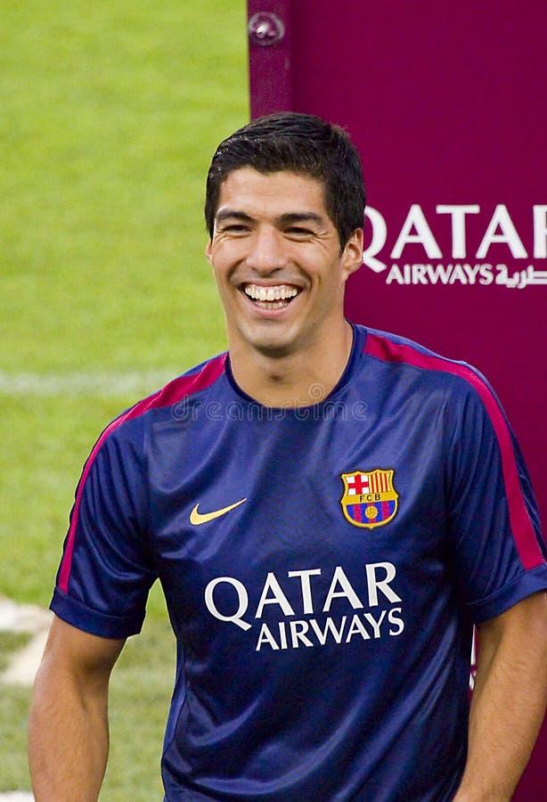 Luis Suarez av FCet Barcelona royaltyfri fotografi