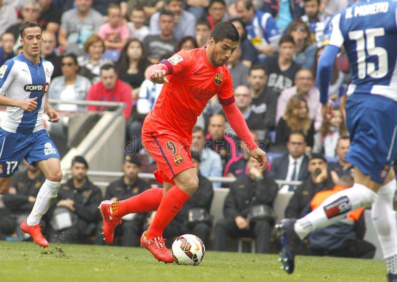 Luis Suarez del FC Barcelona imagenes de archivo