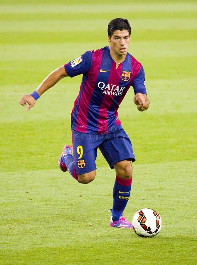 Luis Suarez van FC Barcelona stock foto's