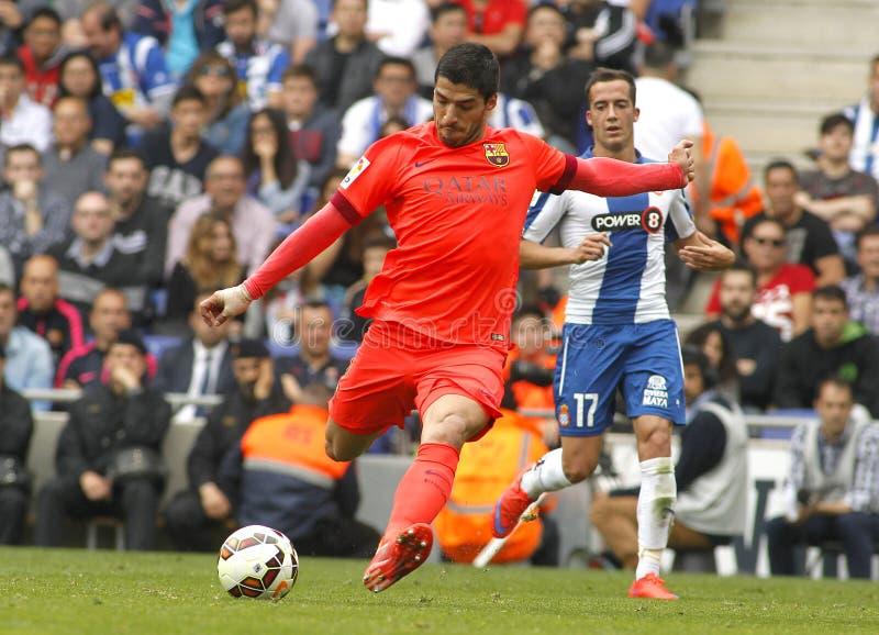Luis Suarez van FC Barcelona royalty-vrije stock afbeelding