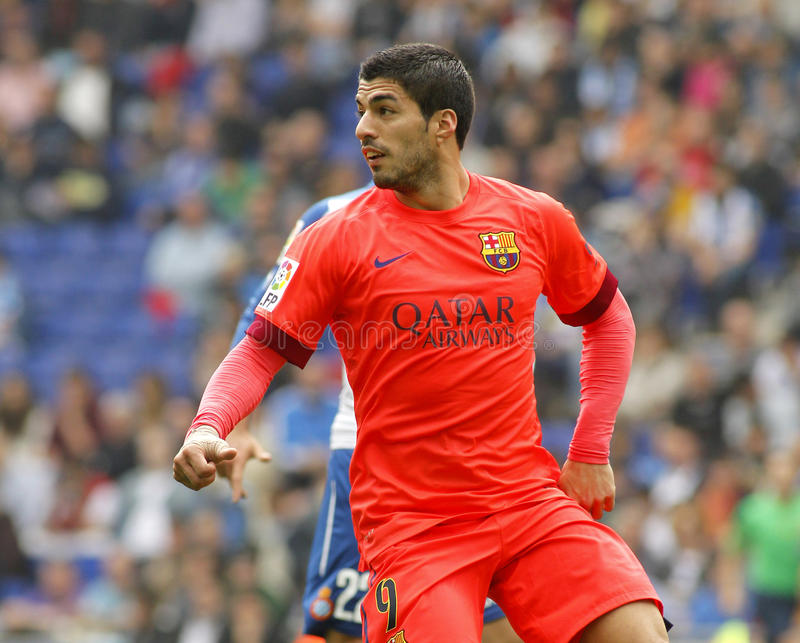 Luis Suarez von FC Barcelona lizenzfreie stockfotos