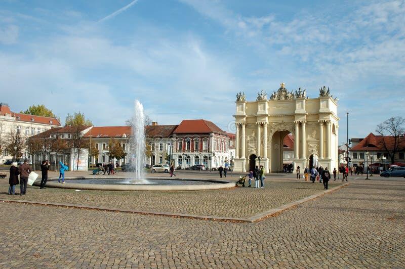 Download Luisenplatz And Brandenburg Gate In Potsdam Editorial Photography - Image: 34527092