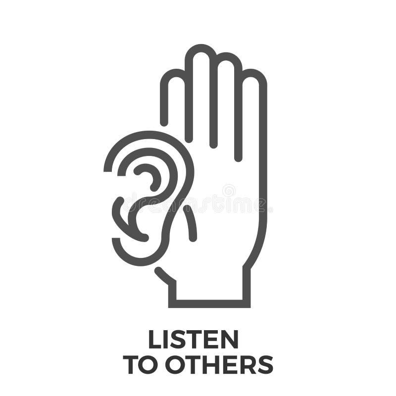 Luister aan anderen stock illustratie