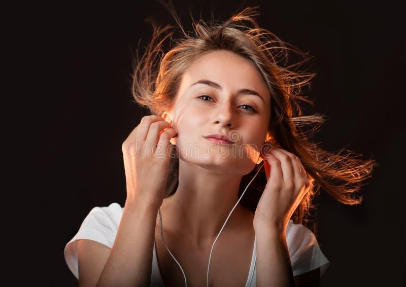 Luister aan de Muziek royalty-vrije stock foto