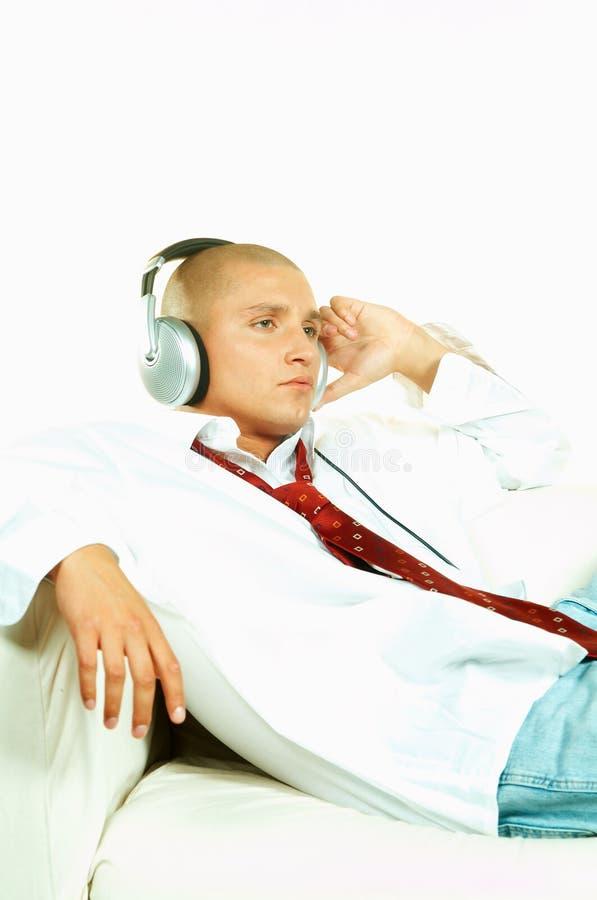 Luister aan muziek royalty-vrije stock foto's