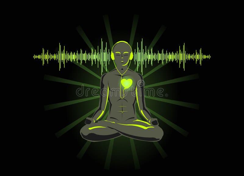 Luister aan uw hart royalty-vrije illustratie