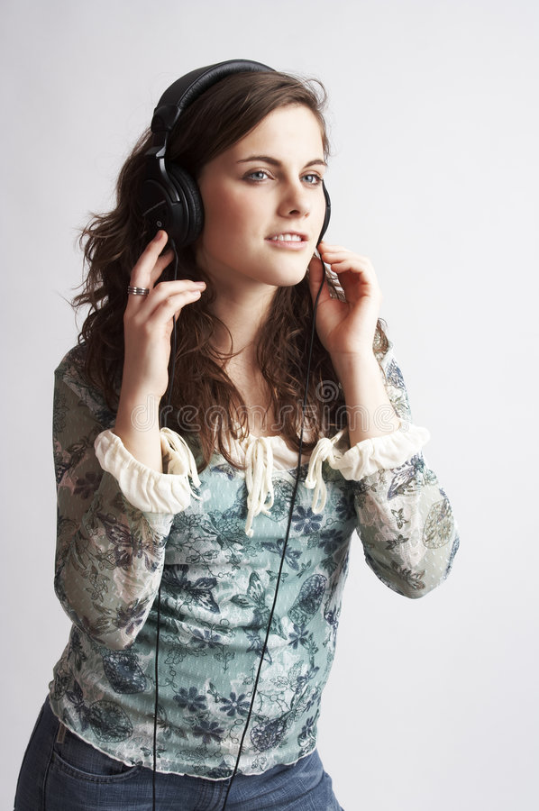 Luisterend de muziek royalty-vrije stock foto's