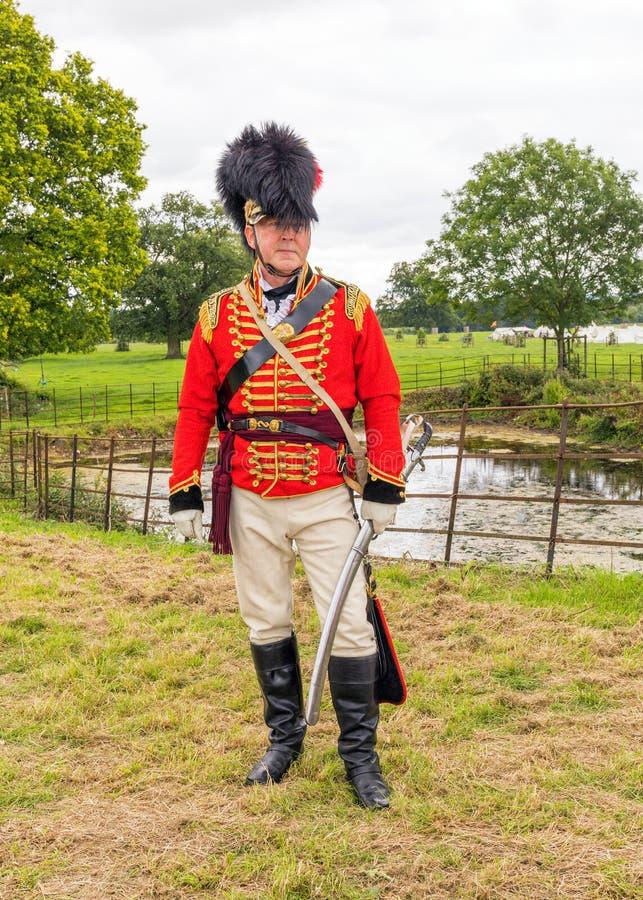 Luitenantkolonel, de Cavalerie van Worcester Yeomanry, Engeland royalty-vrije stock foto's