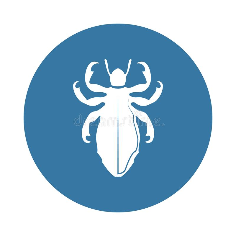 Luizenpictogram Element van insectpictogrammen voor mobiel concept en Web apps Het de luizenpictogram van de kentekenstijl kan vo royalty-vrije illustratie