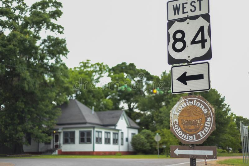 Luizjana Historyczne transkontynentalne federacyjne autostrady obraz royalty free