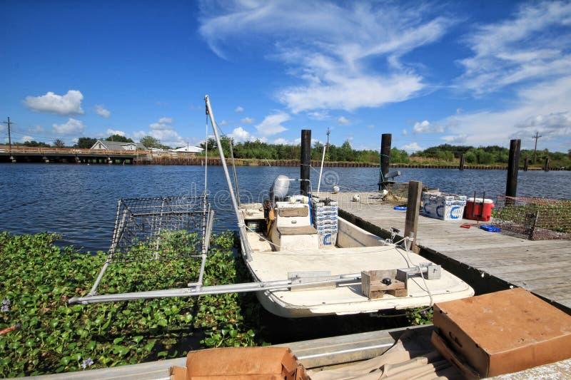 Luizjana kraba łódź rybacka obrazy stock