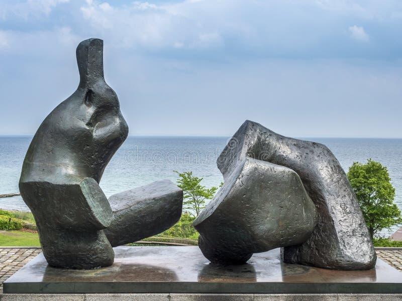 Luizjana muzeum sztuka współczesna Dani zdjęcie stock