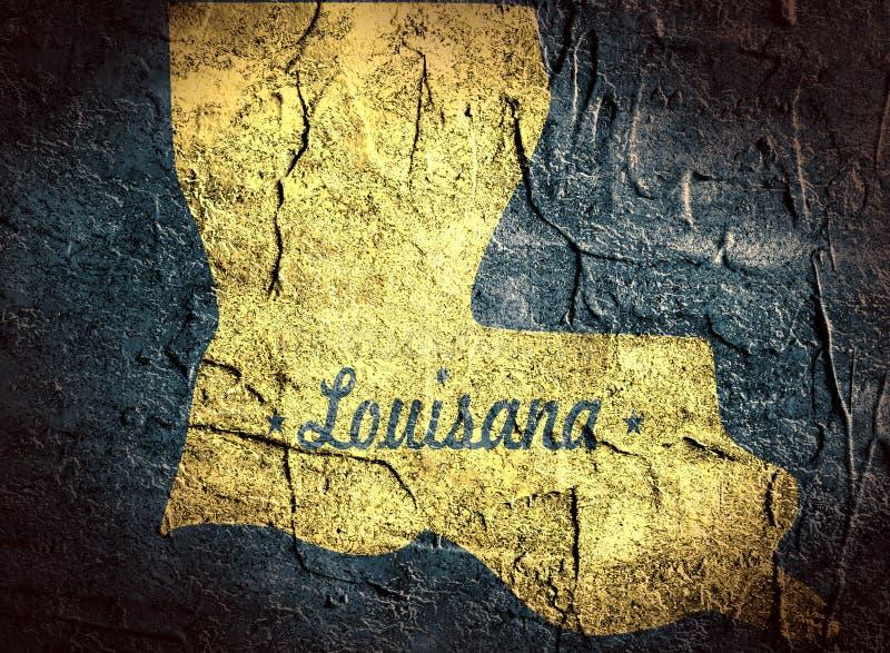 Luizjana stanu mapa ilustracja wektor