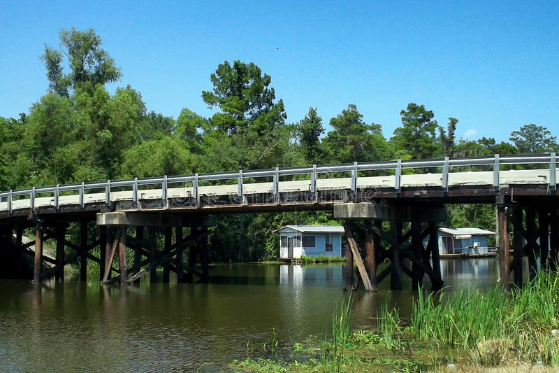 Luizjana zalewiska most obraz stock