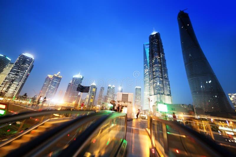 Lujiazui financieel centrum van Shanghai stock afbeelding