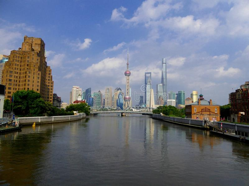 Lujiazuimening in Shanghai royalty-vrije stock afbeelding