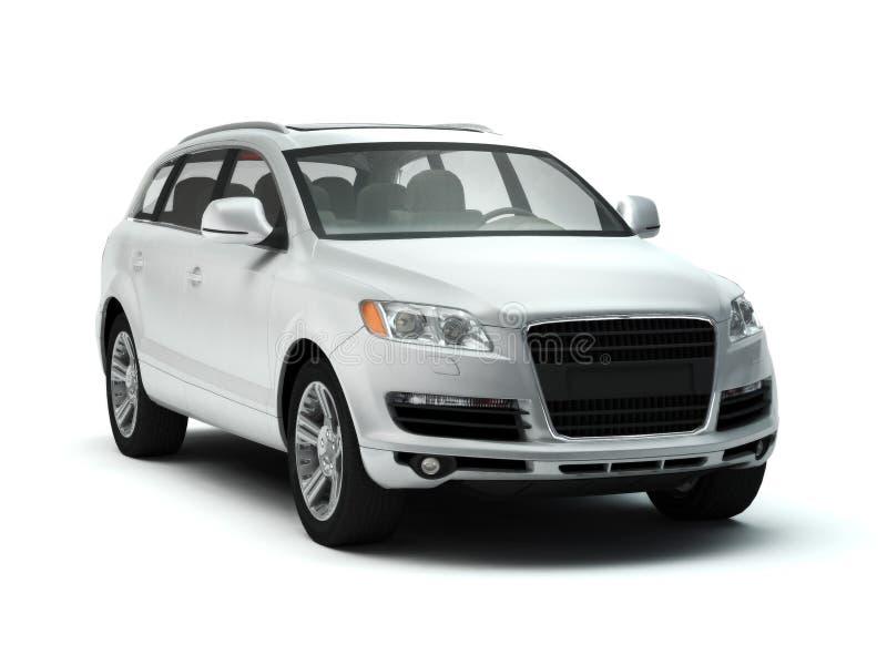 Lujo blanco SUV ilustración del vector
