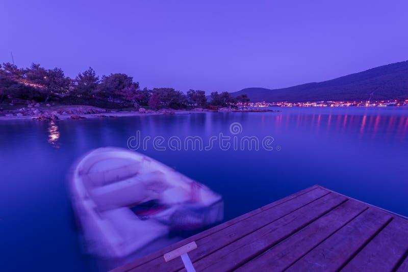 LUJO, Bodrum - в вечере стоковое изображение