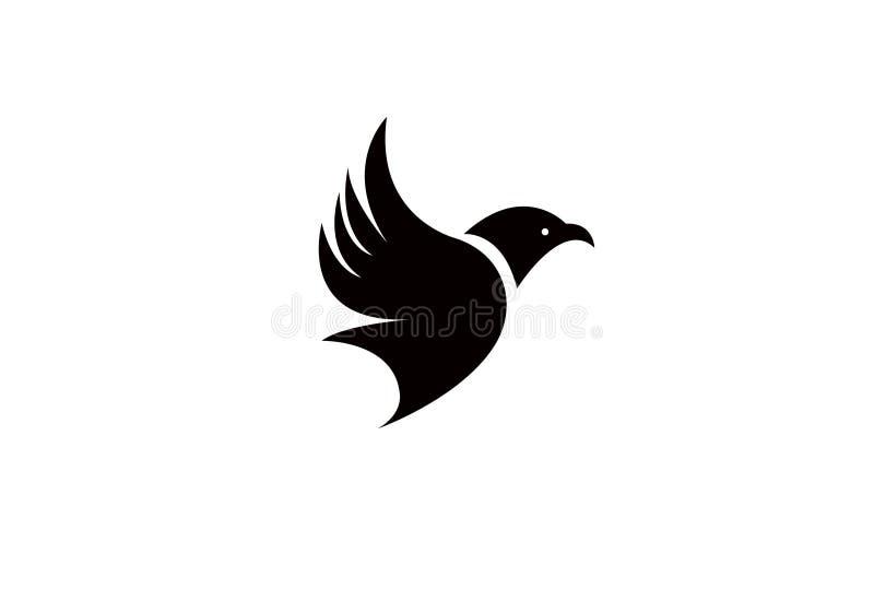 Lujo creativo de la plantilla de Logo Modern Simple Vector Editable de la mosca del p?jaro imagen de archivo