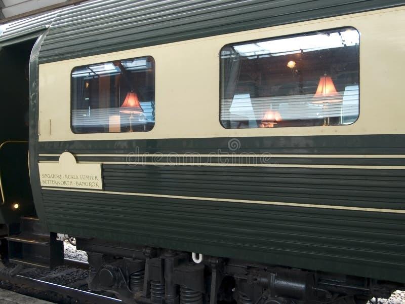 Lujo que cena el coche ferroviario imágenes de archivo libres de regalías
