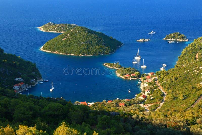Luka de Prozurska en la isla Mljet en Croacia imágenes de archivo libres de regalías