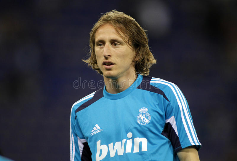 Luka Modric Real Madrid obrazy stock