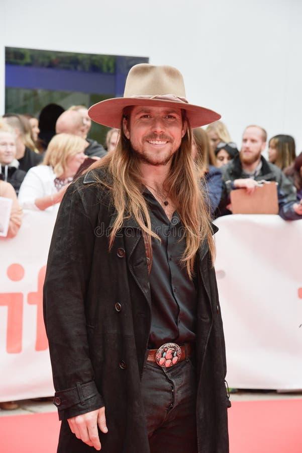 Lukas Nelson woont ` bij een Ster Geboren `-première tijdens Internationaal de Filmfestival TIFF2018 van Toronto van 2018 is royalty-vrije stock foto