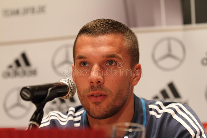 Lukas Podolski foto de archivo libre de regalías