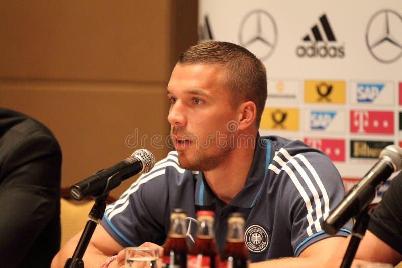 Lukas Podolski imagen de archivo libre de regalías