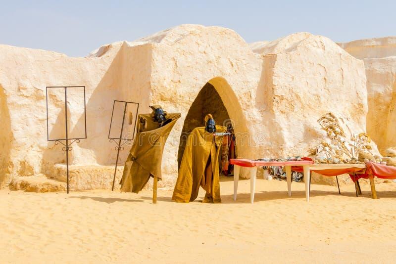 Luke, είμαι ο πατέρας σας η έρημος Σαχάρας κοντά σε Naftah, Τυνησία, Αφρική στοκ φωτογραφίες