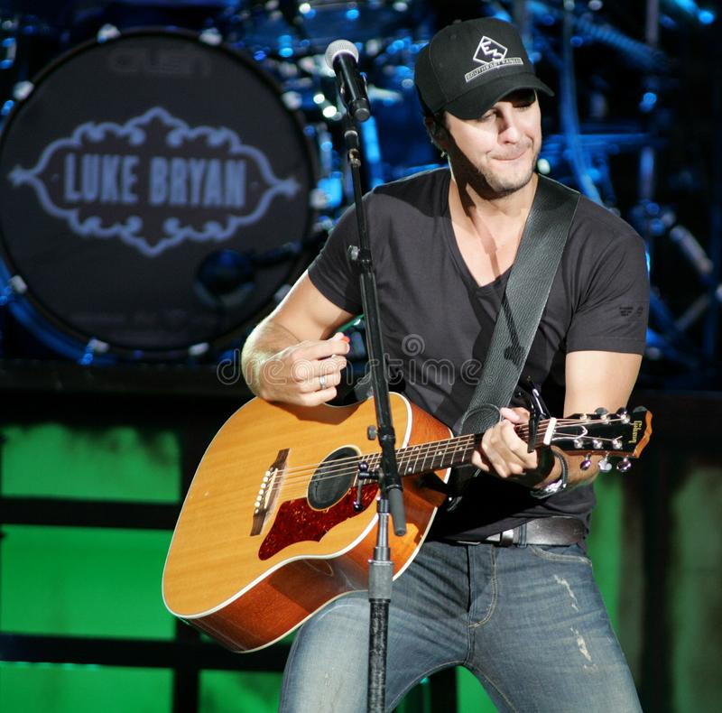 Luke Bryan performs in concert. At the Cruzan Amphitheater in West Palm Beach, Florida on April 30, 2011 stock photo