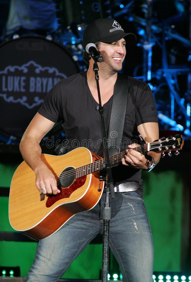 Luke Bryan performs in concert. At the Cruzan Amphitheater in West Palm Beach, Florida on April 30, 2011 royalty free stock images