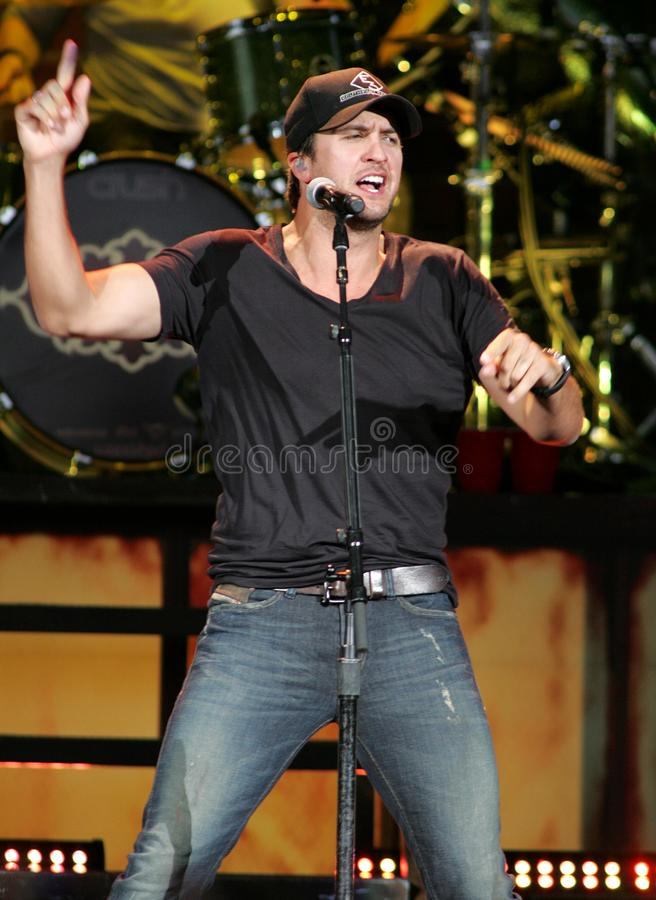 Luke Bryan performs in concert. At the Cruzan Amphitheater in West Palm Beach, Florida on April 30, 2011 royalty free stock image