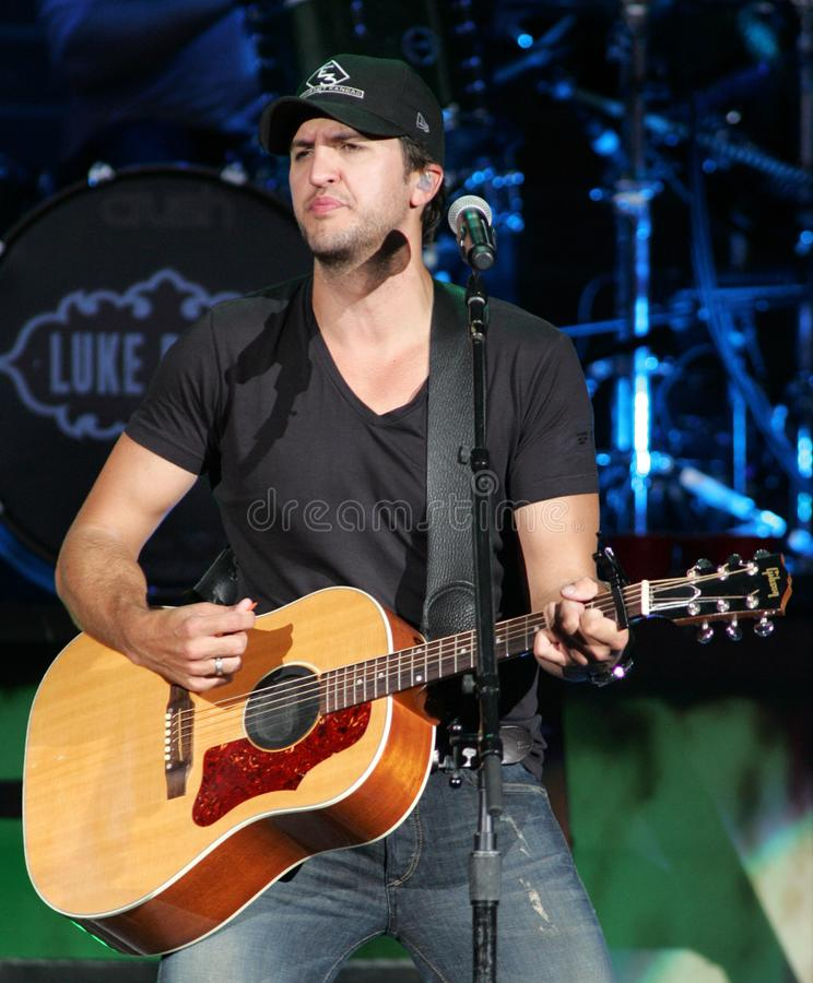 Luke Bryan performs in concert. At the Cruzan Amphitheater in West Palm Beach, Florida on April 30, 2011 stock photos