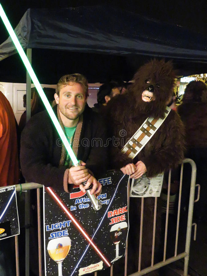 Luke Skywalker e Chewbacca fotos de stock royalty free