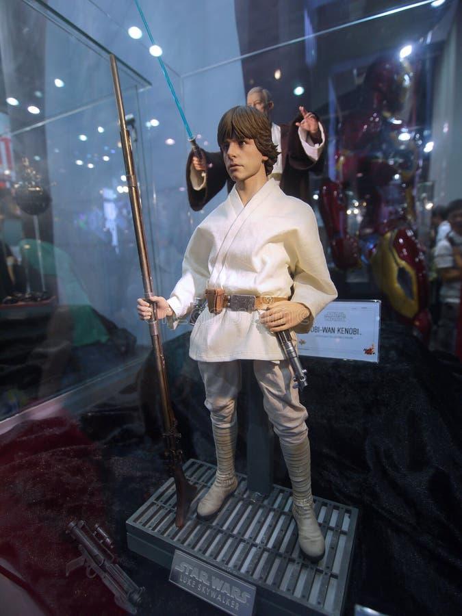 Luke Skywalker em Ani-COM & em jogos Hong Kong 2015 imagem de stock royalty free