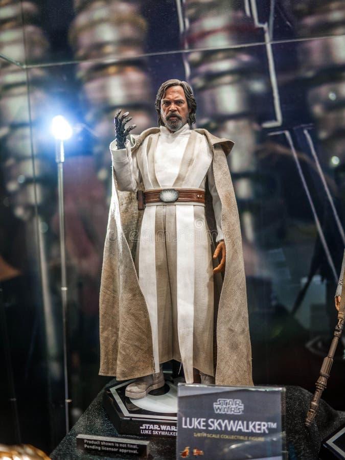 Luke Skywalker i Ani-Com & lekar Hong Kong 2016 royaltyfria bilder