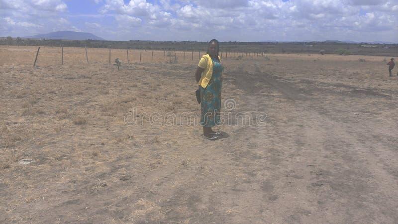 Lukenya slättar Kenya royaltyfria foton